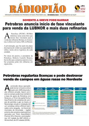 Informativo do Sindicato dos Petroleiros do Ceará e Piauí - FEVEREIRO de 2020
